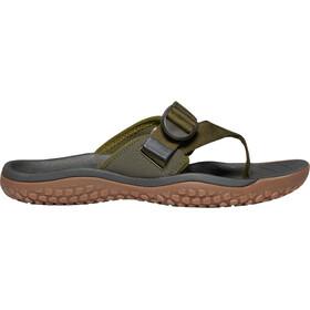 Keen Solr Toe Post Sandals Men dark olive